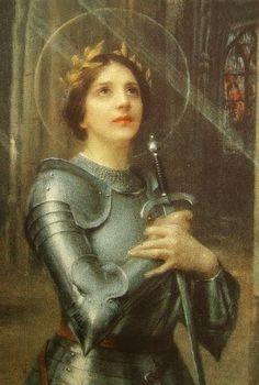 Joan of Arc. Joan D Arc, Saint Joan Of Arc, St Joan, Catholic Art, Religious Art, Joan Of Arc Costume, Art History Major, Danse Macabre, Historical Art