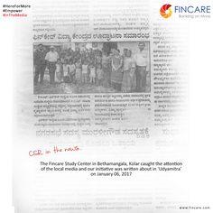 CSR in the news!  #HereForMore #Empower #InTheMedia