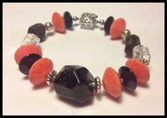 Edelstein Armband Granat Koralle Bracelet Jewelry