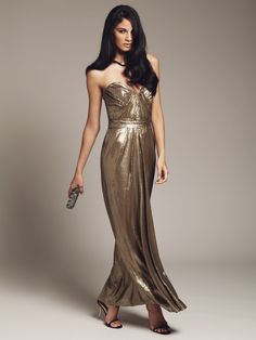 Metallic Evening Gowns