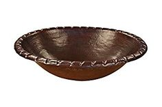 "Copper Sink Bathroom Oval 18' x 14"" inch Twisted Edge Handmade Hammered Finish - - Amazon.com"