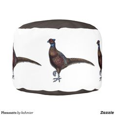 Pheasants Pouf