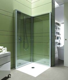 Collapsible Bathing Stalls - Tuck Away the Walls of the OpenSpace Shower by Duravit Between Uses (GALLERY)