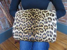 Vintage leopard Muff/ Handbag/ 1940s Animal Print by MISSIONMOD, $500.00