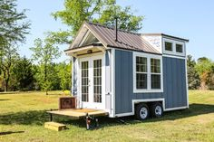 16ft Tiny Cottage on Wheels by Free Range Homes Drop down rear porch.