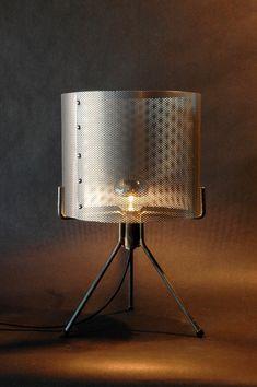 Industrial Perforated Metal Drum Shade