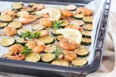 Food Plating, Potato Salad, Zucchini, Shrimp, Meat, Vegetables, Ethnic Recipes, Vegetable Recipes, Food Presentation