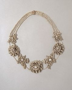 In the Swan's Shadow: Pearl necklace, 1850-60
