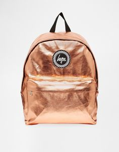 Just ❤️ this rose gold rucksack from Hype at ASOS! Perfect for daytime festival essentials, as well as everyday wear. Backpack Purse, Leather Backpack, Mini Backpack, Hype Bags, Metallic Backpacks, Couleur Or Rose, Back Bag, Designer Totes, Girl Backpacks