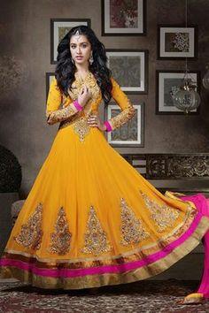 Mesmeric Shraddha Kapoor Georgette Anarkali Suit