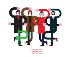 Groovy Illustrations Show The Evolution Of Outfits Worn By 'The Beatles' - DesignTAXI.com