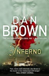 "Inferno by Dan Brown - on top to already expected adventures of Robert Langdon, the reader is challenged with an ethical question: ""Would you kill half the population today in order to save our species from extinction?"" Join Robert in race against time in Italy!"