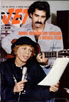 Minnie Ripperton, songwriter, singer with her husband on the cover of Jet Magazine - October 1976.  Minnie Ripperton was a member of Zeta Phi Beta Sorority.