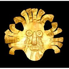 Headdress ornament, Nasca, Peru, Early Intermediate Period, 400 B.C. - A.D. 600, gold, Dallas Museum of Art, The Nora and John Wise Collection