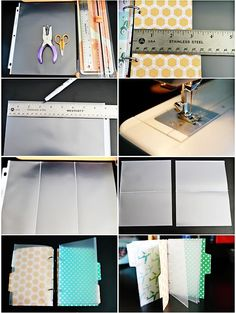 making your own specialized size page protectors / start with 8.5x11 page protector & sew pockets the size you need)