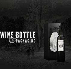 Free Wine Bottles Mockup by Dominik van Treel, via Behance
