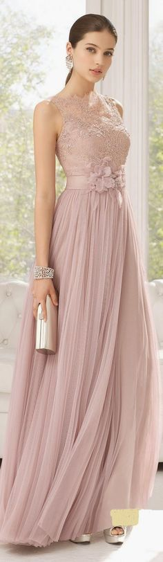 Lace top and Pleated Maxi Maxi Dress with Clutch P...