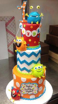 Trendy Ideas For Birthday Cake Mermaid Galleries Monster Birthday Cakes, Little Monster Birthday, Monster 1st Birthdays, Monster Birthday Parties, Birthday Cakes For Men, Monster Party, First Birthdays, Cake Birthday, Birthday Wishes For Kids