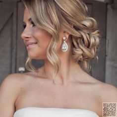 33 #Stunning Wedding Hairstyles for Your Big Day ... → Wedding #Wedding