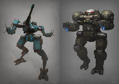 Battlemechs by *BrotherOstavia on deviantART
