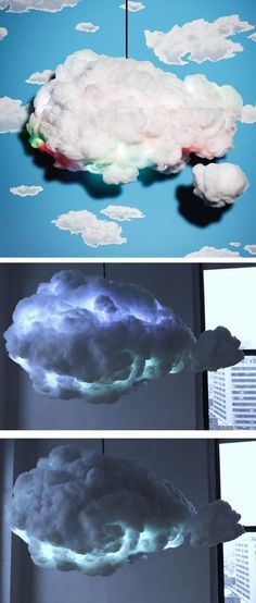 Cloud lamp with LED lights