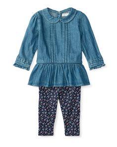 Peplum Top & Legging Set - Baby Girl Sets & Outfits - RalphLauren.com