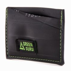 ID Card Wallet Recycled Upcycled Bike Tube Made in USA by Green Guru