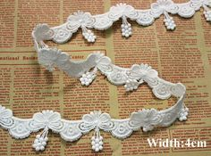 5yard/lot Size:4cm Good quality cotton water soluble lace for garment,ivory color lace trimming lace,diy accessories(ss-4706)