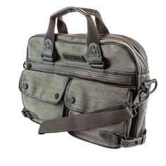 Andrew Marc - Rivington Twill Top Handle Brief - Men's Bags