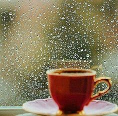 It's pouring in Mckinney today, we're having fun, and I'm going to get myself a cup of coffee. Coffee Latte, I Love Coffee, Coffee Break, My Coffee, Morning Coffee, Coffee Time, Tea Time, Coffee Cups, Rainy Wallpaper