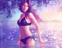 Miss July wades through a tranquil lake near sunset, trailing her fingers through the cool waters!  Closeups available at my website at https://www.stephanieshimerdla.com/july
