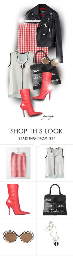 """""""White, Red, Black"""" by rockreborn ❤ liked on Polyvore featuring Boden, Balenciaga, Delvaux, polyvorecommunity and polyvoreeditorial"""