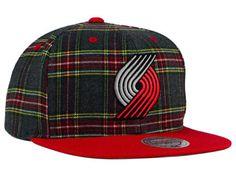 8cb7efbf4d1 Portland Trail Blazers Mitchell   Ness NBA Plaid It Snapback Cap
