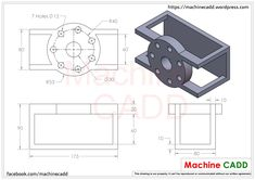 Machine CADD welcomes you.On this section we will provide you CAD Exercises for any CAD software.You can practice these CAD Exercises in any CAD softwares li… Cad 2d, Mechanical Engineering Projects, Autocad Isometric Drawing, Solidworks Tutorial, Interesting Drawings, Cad Programs, Cad Software, 3d Cad Models, Cad Drawing