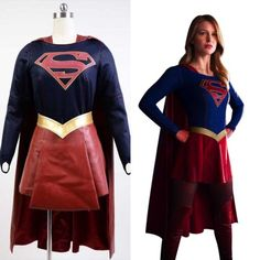 Supergirl-Kara-Danvers-Zor-El-Melissa-Benoist-Cosplay-Costume-Outfit-Dress-Suit