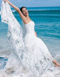 Gorgeous! great gown for a beach wedding!