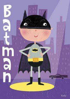 I love Batman by Kelly Cottrell