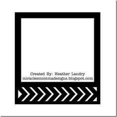 Chevron Frame SVG file by Heather Landry. miraclesmommadesigns.blogspot.com