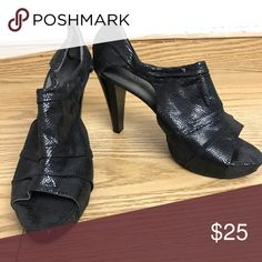 Women's Semi-Boot Heels Worthington semi boot heel, worn once, like new, in great condition. True to size, fit well. Worthington Shoes Heels