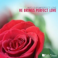 I to Our Imperfect Love, He Brings Perfect Love