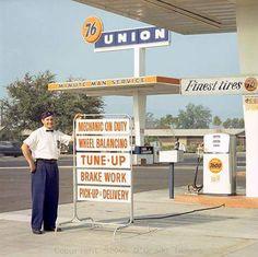 Station Service - Vintage Automobile Dealerships and Automobilia.