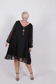1b888457f67  TCFxSocietyPlus Plus Size Clothing for Women - Plus Size LBD Chiffon Dress  (Sizes 18