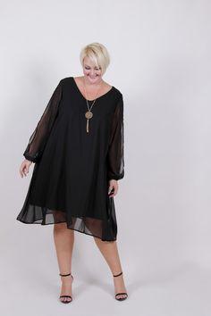 #TCFxSocietyPlus Plus Size Clothing for Women - Plus Size LBD Chiffon Dress (Sizes 18 - 24) - Society+ - Society Plus - Buy Online Now! - 1