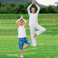 Yoga Poses that would be fun to do with kiddos.  Looks like big fun for both!