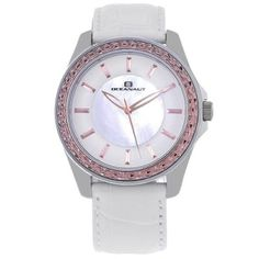 $157, White Leather Watch: Oceanaut Angel Watch. Sold by Overstock.