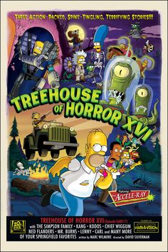 The Simpsons - Treehouse of Horror XVI. Promotional artwork, 2005.