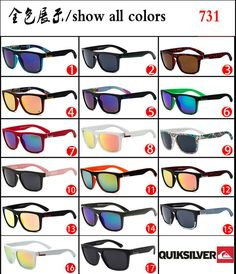 3a75cebabff4 HOT QuikSilver 17 Colors Stylish Men Women Outdoor Sunglasses UV400   fashion  clothing  shoes