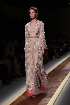 First Look – Valentino spring/summer 2012 embroidered floral dress