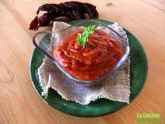 Salsa de pimientos secos con manzana, apta para la Nueva dieta Dukan desde el miércoles.
