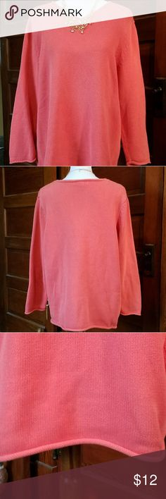 "Eddie Bauer Salmon Tunic. Sz 1X. 100% Cotton Eddie Bauer Salmon Tunic. 100% Cotton.  Sz 1X V Neck  Length 29"" Sleeves 23"" Eddie Bauer Tops"